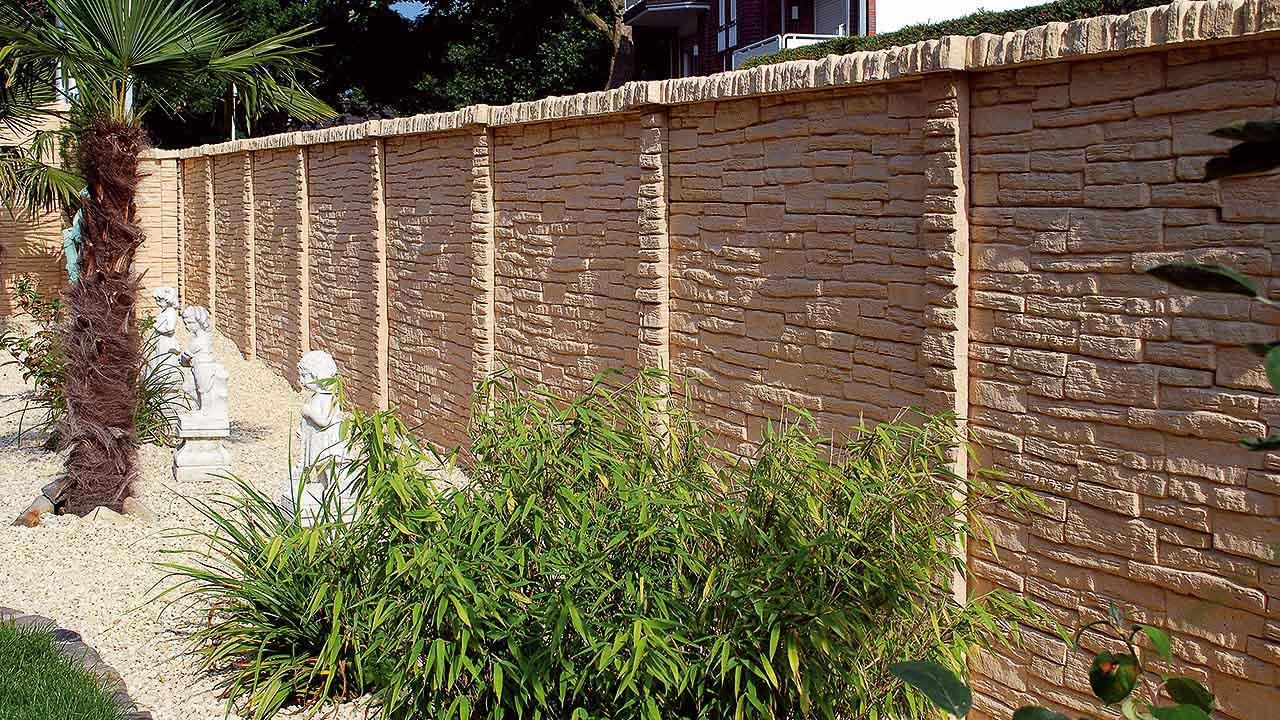 Beckers Betonzaun betonzaunprofi betonzaun mediterran unser zaun mit eleganz